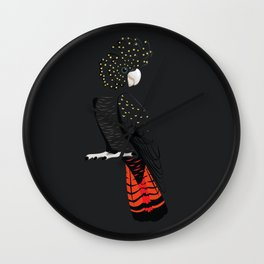 Red-tailed black cockatoo Wall Clock