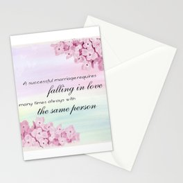 Marriage Quote (Love Quote) Stationery Cards