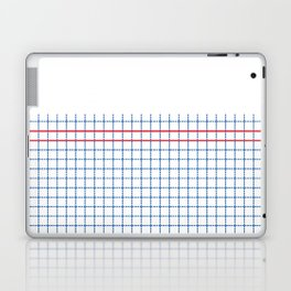 Dotted Grid Boarder Blue Red 2 Laptop & iPad Skin