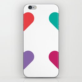 four hearts iPhone Skin