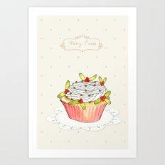 x-mas cupcake_01 Art Print