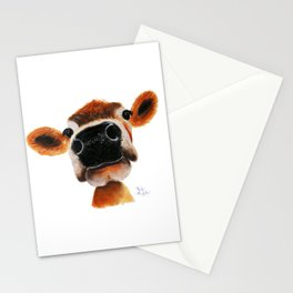 Nosey Cow ' JERSEY JOY ' by Shirley MacArthur Stationery Cards