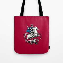Flag of moscow Tote Bag