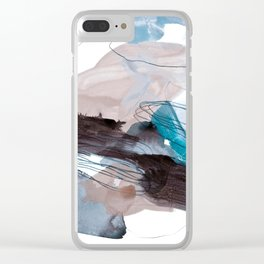 abstract painting VIII Clear iPhone Case