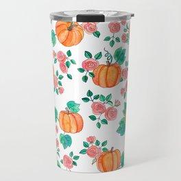 Pumpkins and Roses Travel Mug