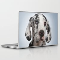 great dane Laptop & iPad Skins featuring Great dane by Life on White Creative