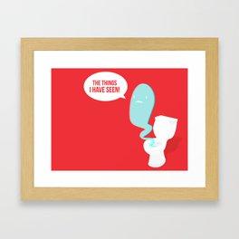 The Toilet Ghost Framed Art Print