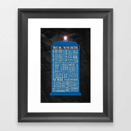 Doctor Who  Framed Art Print