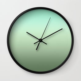 Pale Green Ombre Wall Clock