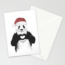 Santa panda Stationery Cards