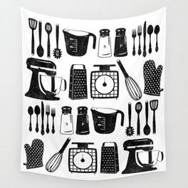 Kitchen Utensils Wall Tapestry