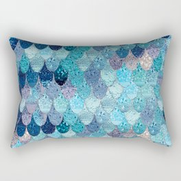 SUMMER MERMAID DARK TEAL Rectangular Pillow