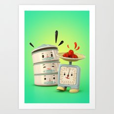 Happy Balance Art Print