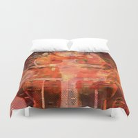 hemingway Duvet Covers featuring Been There Done That < The NO Series (Brown) by Wayne Edson Bryan