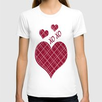 burgundy T-shirts featuring Burgundy Pattern by Christina Rollo