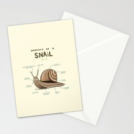 Anatomy of a Snail Stationery Cards