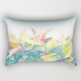After the rain / Tropical Croton Leaves 4 Rectangular Pillow