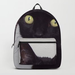 Pretty Kitty, Black Cat With Huge Green Eyes, Halloween Cat Backpack