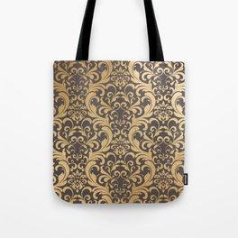 Gold swirls damask #1 Tote Bag