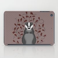 badger iPad Cases featuring Badger by Sophie Mitchell