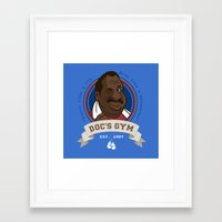 gym Framed Art Prints featuring Doc's Gym by Michael B. Myers Jr.