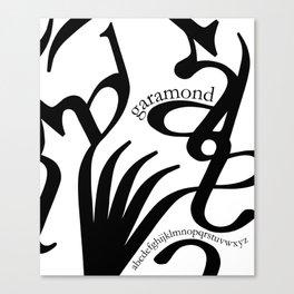 Typography & garamond Canvas Print
