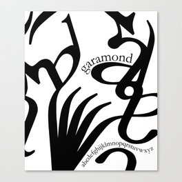 Typography & garamond Canvas Print
