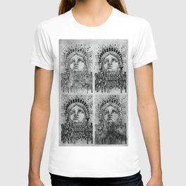new york city black and white T-shirt