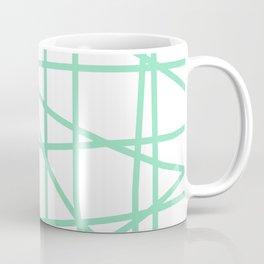 Doodle (Mint & White) Coffee Mug