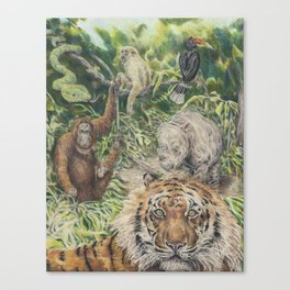 Indonesian Rain Forest Canvas Print