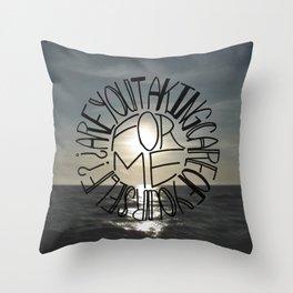 Taking Care Throw Pillow