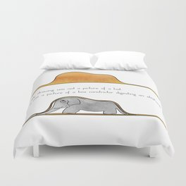 The Little Prince, a hat or a boa constrictor? Duvet Cover
