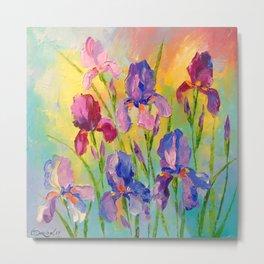 Irises Metal Print