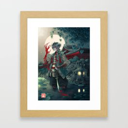 Karasu-demon's hand Framed Art Print