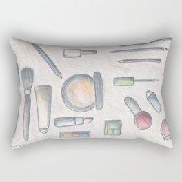 MAKE-UP - pencil and coloured pencil illustration Rectangular Pillow