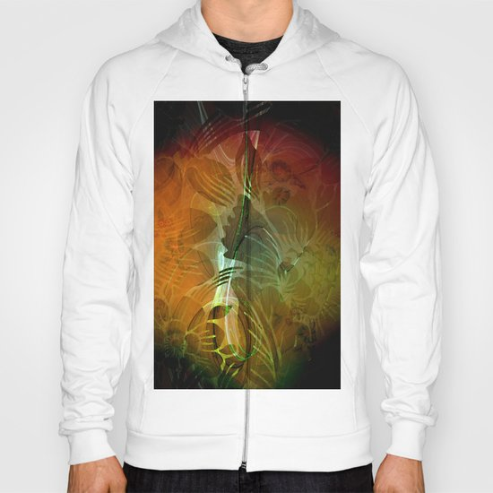 Abstract floral design Hoody