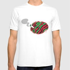 The High End Theory White MEDIUM Mens Fitted Tee