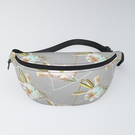 Botanical blooming with geometric 02 Fanny Pack