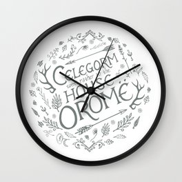 Celegorm went rather to the house of Orome-Green on White Wall Clock