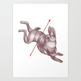 By a Hare Art Print