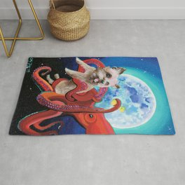 The Bonding Bone - Yorkie and Octopus Rug
