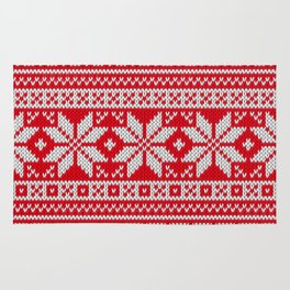Winter knitted pattern 3 Rug
