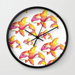 Summer Orca Wall Clock