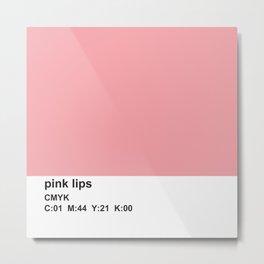 pantone inspired, CMYK, pink Metal Print