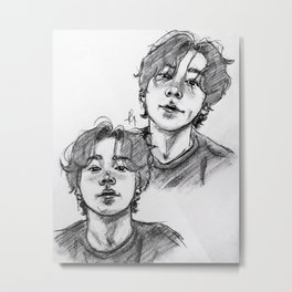 Jungkook long hair Metal Print