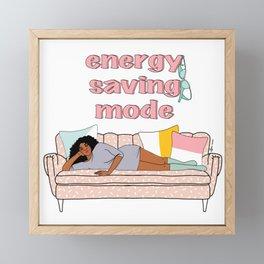 Energy Saving Mode Mimi Framed Mini Art Print