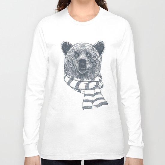 Winter Bear Drawing Long Sleeve T-shirt