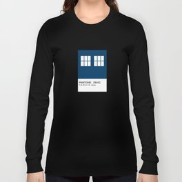 TARDIS Blue Pantone Long Sleeve T-shirt