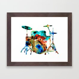 The Drums - Music Art By Sharon Cummings Framed Art Print