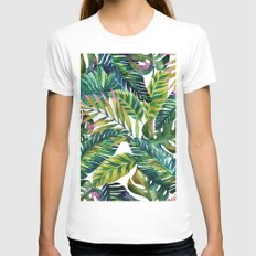 banana life White Womens Fitted Tee MEDIUM